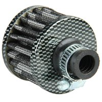 Wholesale 12mm Carbon Fiber Car Cone Cold Air Intake Filter Turbo Vent Crankcase Breather Sales