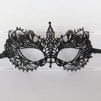lace mask - Halloween Ball Mask Luxury Openwork Lace Mask Black and White Fit for Face Curve