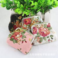 Girl baby girl brand purses - hot korean baby kids cute mini purse children s clothing accessories new brand rose floweer buckle coin bag fashion floral wallet