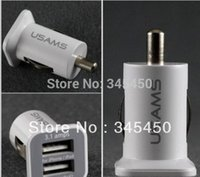 Wholesale 5pcs HighQuality Large capacity ma A car charger Micro Dual USB port Car Charger vehicle Adapter for iphon s etc