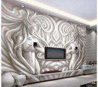 beautiful sculpture photo - Custom photo wallpaper Large D sofa TV background wallpaper mural wall Beautiful modern sculpture d mural wallpaper