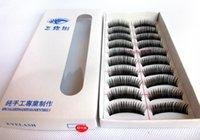 Wholesale 500sets Natural Handmade False Eyelashes Long Fake Thick Black False Eyelashes Charming Eye Lashes Voluminous Makeup EMS DHL
