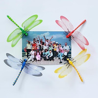 american fridges - 3D Wall Stickers Color Simulation Pretty color Decorative dragonfly Fridge Wedding Party Home Decoration colorful