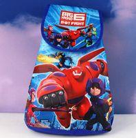 Cheap Children Cartoon Big Hero 6 Baymax School Bags Princess Drawstring Backpack Boy GIirl Sofia Kids Birthday Party Souvenir Gift Free shipping