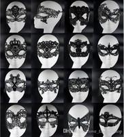 achat en gros de venetian mask-Masque de mascarade de dentelle de dentelle de 20pcs sexy de masques de masque de partie de masque de partie vénitien pour le Noël