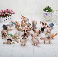 The Valentine Day farm animals toys - retail Maple animal Anamalz organic maple animal wooden dolls farm educational toys wildlife