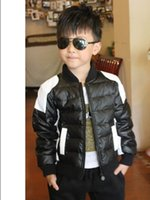 Wholesale The new winter clothing fashion winter boy black and white color matching jacket cotton padded clothes