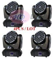 4pcs / lot 36x3w rgbw leds super qualité de vente chaude 36 x 3w faisceau de tête mobile conduit