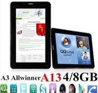 Wholesale Mobile Smart Android Cell Phone A13 Tablet PC Inch Android Q88 Dual Camera quot GSM Tablets M G ROM