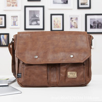 best briefcase brands - Man Brand Bag Best Quality Men Messenger Bags Business Briefcase Genuine Leather Bag Restoring ancient way Man Casual Briefcase
