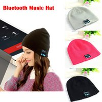 Wholesale Free DHL Warm Beanie Bluetooth Music Hats Wireless Bluetooth Smart Caps With Headphone Headset Speaker Mic