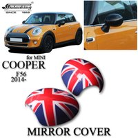 car mirror flag cover - CAR DECORATIONS MIRROR COVER FOR MINI COOPER F56 Red British flag