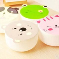 Wholesale plastic bowls cute cartoon small bento box for kid kitchen fruit salad microwave lunch box with lid tableware F