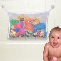 wire basket - Creative Folding Eco friendly High Quality Baby Bathroom Mesh Bag Child Bath Toy Storage Bag Net Suction Cup Baskets HG