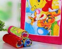 Wholesale printed towel face hair towels children beach cloth cartoon cm