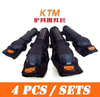 atv racks - 4pcs set Tactical protection motorcycle racking motocross KTM ATV knee pads elbow pads protective gear drop shipping