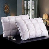 antibacterial textiles - Designer D white duck down feather pillow standard antibacterial elegant home textile kg cm