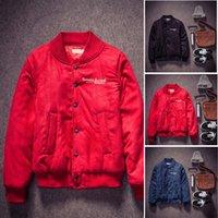 Cheap Fall-winter jackets men brand outdoors coat Baseball clothing cotton jaquetas hipster down-jacket chaquetas hombre inverno Skateboard