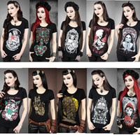 Cheap Punk t shirt Best halloween costume for women