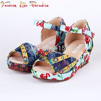 Wholesale Wl Monsoon Girls Sandals Fan Print Fashion Children Shoes Kids Sandals for Girl Summer Baby Girls Shoes Children Sandals Mom Daughter