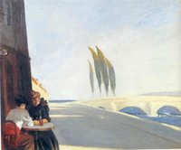 One Panel art bistro - Landscape Painting Modern Edward Hopper s Bistro for sale Canvas Art Hand painted High quality