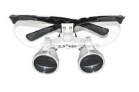 Cheap CE New Dentist Gold Dental Surgical Medical Binocular Loupes 2.5X420mm Optical Glass Loupe