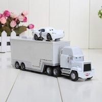 Wholesale White apple trucks set truck small car white apple trucks Pixar Cars plastic Mack Muck Truck Car Toys