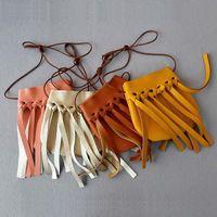 Wholesale 4 Color Fashion Girls INS Tassel PU Bags new children Coin Purses Handmade Kids Purses Handbags Bag wallet B001