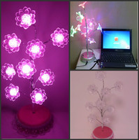 Christmas Tree No Yes Pink Lotus Flower Tree Night Light Bonsai Landscape Lamp Christmas Indoor Ornament Lights For Wedding Holiday Party Decoration