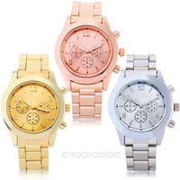 Unisex rose - New Gold Silver Rose Gold Watch Women Dress Watch Luxury Full Steel Quartz Watch Watches Men relogio feminino Y55 MPJ195