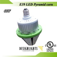 Wholesale 120lm w DLC UL listed E39 E27 w LED Pyramid corn bulb with internal IP65 driver for w MH parking garage light replacement