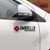 Wholesale 2013 new reflective resident evil umbrella stickers vinyl decal decorate sticker for motorcycle and car accessories