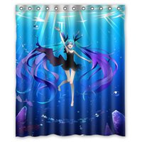 best curtain fabric - 2015 cartoon Hatsune Miku Waterproof Polyester Fabric Bathroom Shower Curtain quot x quot bathroom decoration best gift for you