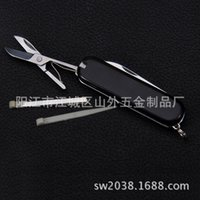 Wholesale Supply multi functional knife gift pocketknife three open function Swiss Army knife of black color factory