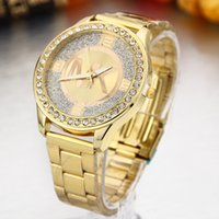 Wholesale A strip of gold diamond watch European fashion hot strip suit fashion female golden watch