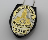Wholesale The Losangeles police inspector badges LAPD No DETECTIVE Multi function Clip DHL Free High Quality Metal Badge