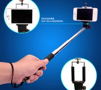 Wholesale Universal Extendable Handheld Monopod Selfie Stick Phone Holder Tripod Clip for Gopro iPhone Samsung S5 HTC Nokia with Retail Packaging