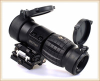 aimpoint - 2016 Black Tactical X Magnifier Scope Optics Scopes Riflescope Fits Aimpoint Sight with Flip To Side Picatinny Weaver Rail Mounts