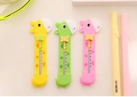 Wholesale kawaii Korean cartoon stationery giraffe modeling s knife Alloys and plastics a more purchasing moer discount kids love friendds