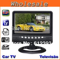 television lcd - Home Video Televisions Inch TFT LCD Color Analog TV With Wide View Angle Support SD MMC Card USB Flash Disk Portable TV