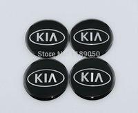 Wholesale 4Pcs CM Car KIA Wheel Center Stickers Fits KIA Hub Cap Stickers mm New KIA Emblems