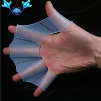 Wholesale Swim Gear Fins Hand Webbed Flippers Silicone Training Paddle Dive Glove Brand New