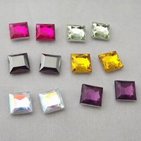 acrylic squares craft - Square D Acrylic Rhinestone Pointback Craft DIY mm ZZ132M