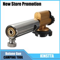 Wholesale Electronic Ignition Copper Flame Butane Gas Burner Gun Maker Torch Lighter For Outdoor Camping Picnic Cooking Welding Equipment