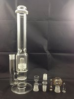 Wholesale Titanium nail two function birdcage percolator and honey comb glass pipe cm mm glass bong glass water pipe blue breaks