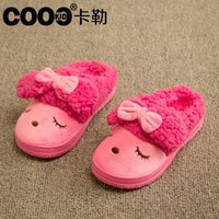 Wholesale J G Chen New Arrival Kids Slippers Winter Children Shoes Indoor Cute Animal Girls Slippers Warm Snow Slippers Shoes