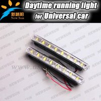 Cheap Discount price DRL 8 LED Daytime Running Light Parking Fog lamp kit Car Truck SUV Trailer Motorcycle Head light DRL Car lamps