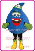 Custom Made adult rain suit - Beaty Blue Rain Drop Mascot Costume Adult Size Cartoon Character Adverstising Mascotte Mascota Outfit Suit Fancy Dress Free Ship