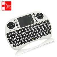 Wholesale Promotional Rii Mini i8 Xbox360 Russian English Layout Smart Keyboard Fly Air Mouse for Android TV Box PC Pad Notbook Laptop