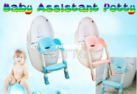 Wholesale Foldable Kids Children Babies Toddlers Toilet Potty Trainer Seat With Ladder Kit